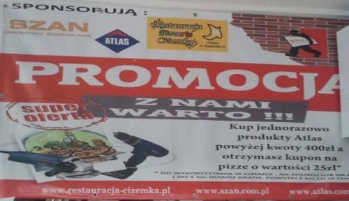 ATLAS - promocja z pizzą - hurtownia budowlana SZAN - ghb.pl