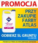 farby ATLAS i grunt za grosze - ghb.pl - hutownia budowlana SZAN