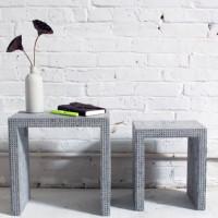 Stoliczki wsuwane z betonu i lego - ghb.pl - mat. budowlane