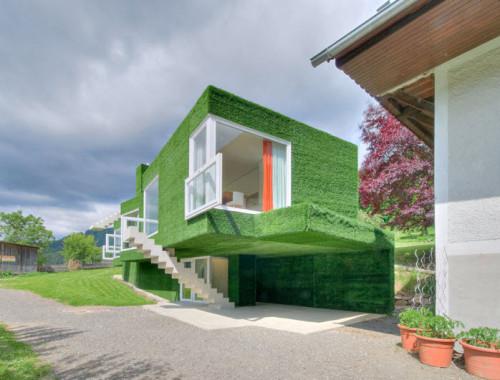 Dom z zieloną fasadą we Frohnleiten - ghb.pl - mat.budowlane2
